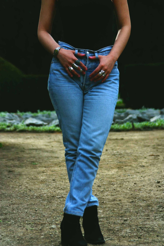 nagyméretű női farmernadrágok
